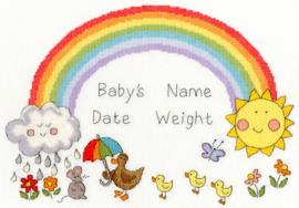 Rainbow Baby (Regenboog Baby) by June Armstrong Aida Borduurpakket Bothy Threads XNB7