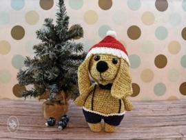 Woef de Kersthond Gehaakt Durable Cosy Fine Faded