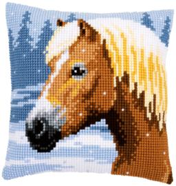 Paard in de Sneeuw Kruissteekkussen Vervaco