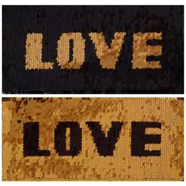 Applicatie reversible Love gold