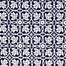 Rozen Donker Blauw Tissu de Marie