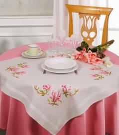 Magnolia voorbedrukt tafelkleed Vervaco