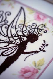 Bloemenfee Silhouette Aida Lanarte Borduurpakket