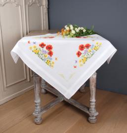 Wilde voorjaarsbloemen Voorbedrukt Tafelkleed