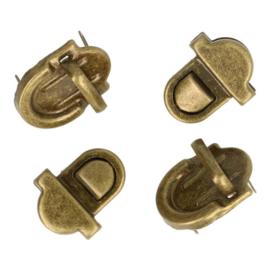 Tassluiting klein - Oud goud