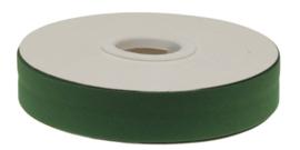 Donker groen gevouwen biaisband 20 mm
