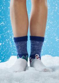 Winter Scene Sokken Breien Schachenmayr Regia