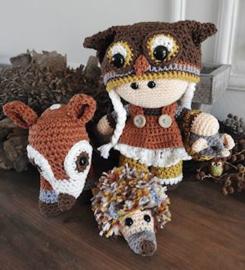 Funny Owl set Crochet Kit