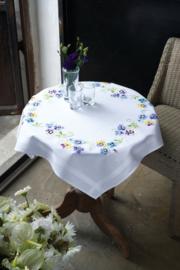 Viooltjes Voorbedrukt tafelkleed Vervaco