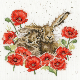 Love Is In The Hare Borduurpakket Wrendale Designs by Hannah Dale XHD61
