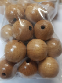"""15mm/0.6"""" 20pcs. Lacquered Wooden Beads"""