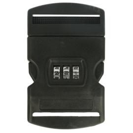 50mm Turbo-sluiting met cijferslot Zwart