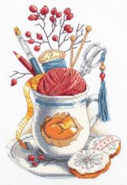 Crafter's Mug Aida borduurpakket Panna