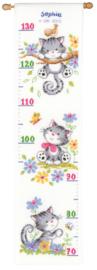 Spelende Kittens Aida Meetlat Vervaco Telpakket