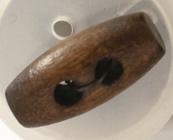 15mm Donkere Houten Knebel Knoop
