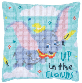 Dumbo Up In The Clouds Canvas Cushion Vervaco