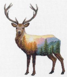 Deer Scene Aida Dimensions Telpakket