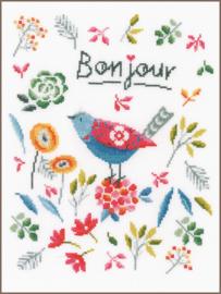 Flower Bird Aida telpakket Vervaco
