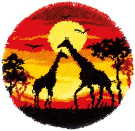 Giraf Sunset Knooppakket Vervaco