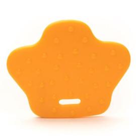 Oranje/ zalm dierenpoot bijtring Durable