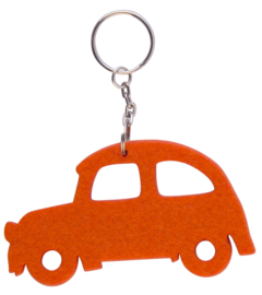 Orange Beatle Key Ring
