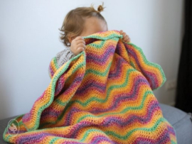 Ripple Blanket Gehaakt Durable Cosy Fine Faded