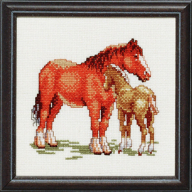 Paard met veulen Aida Borduurpakket pako