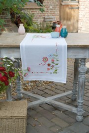 Flowers Table Runner Vervaco