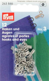 Messing Haken en Ogen Prym