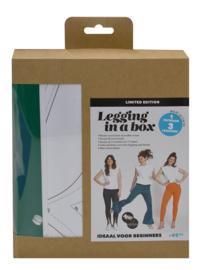 Legging in a box Groen - Compleet naaipatroon + stof - Knip & Editex