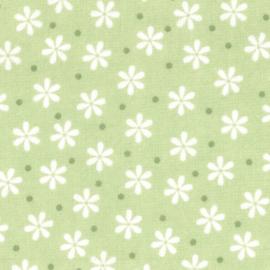 Groene Bloemen Flanel De Witte Engel
