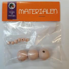 18mm Hoofdjes & 8mm Handjes Materialen Vrolijke Viltvriendjes