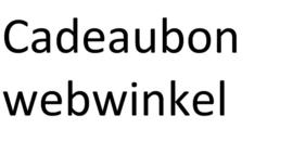 Cadeaubon Webwinkel