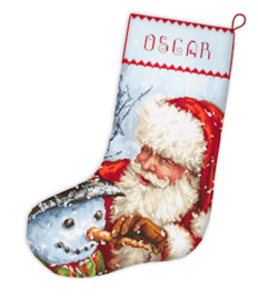 Christmas Stocking Aida Leti Stitch Telpakket