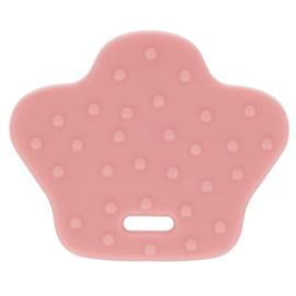 Oud roze dierenpoot Siliconen bijtring Opry