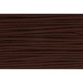 990 Donker bruin soepel koord 5mm