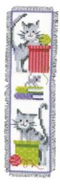 Nieuwsgierige Katten Aida Boekenlegger Vervaco Telpakket