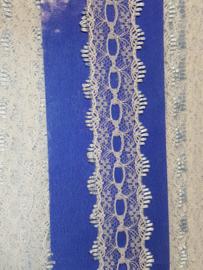 Breikant wit met Blauwe rand 35mm