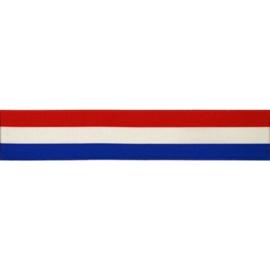 Nederlandse Vlag 25mm Gestreept Lint p.m.