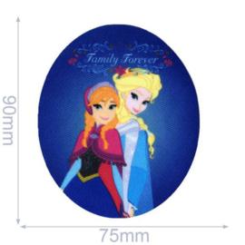 Elsa en Anna Family Forever Frozen Opstrijkbare Applicatie