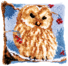 Owl Latch Hook Cushion Vervaco