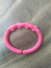 Roze Bubbel Kunststof Bijtring