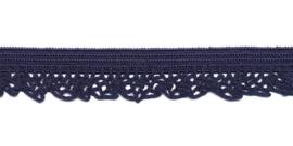 Donker Blauw 12mm Elastisch Kant