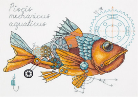 Clockwork Fish Evenweave Panna Telpakket