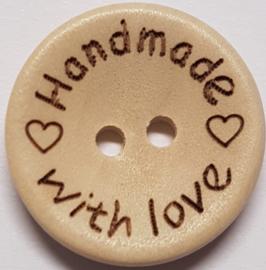 Handmade With Love 20 mm - Houten Knoop