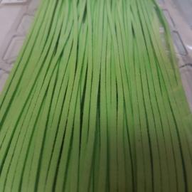 710 Fel Groen 3mm Imitatieleer Band  p.m.