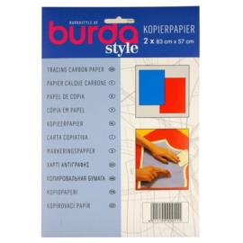Burda Kopieerpapier blauw/rood