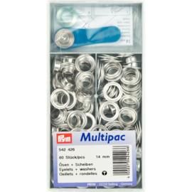 Ringen met Schuiven 14mm Zilver Prym