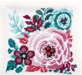 Flower Paradise I Canvas Pillow Vervaco