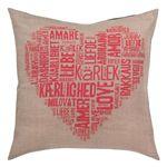 Love Cushion Red Permin